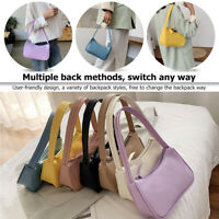 Simple Elegant Women Small Shoulder Bag Pure Color Casual Sling Handbags
