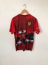 New listing Small Official Scuderia Ferrari Fernando Alonso Red Crew Neck T Shirt Formula 1