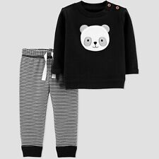 Baby Boys' 2pc Outfit Long Sleeve Just One You® by Carter's Black Panda Sz 18M