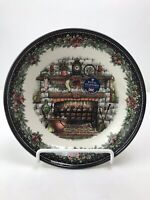 "Royal Stafford Christmas Eve 8"" Pasta Bowl Fireplace Hearth 1791 New"