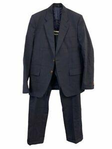 VIVIENNE WESTWOOD MAN Blue Fine Check 100% Wool Single Breasted Blazer Suit IT48