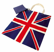 British Union Jack Design Cotton Tote Shopping Bag with Jute Carrier Team GB