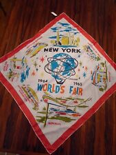 VTG 1964-65 New York World's Fair Souvenir Scarf