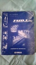 yamaha rm1x original instruction manual