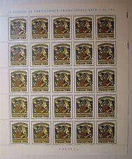 Italia 1993 Mosaici di Piazza Armerina 750 lire Foglio Intero   MNH**