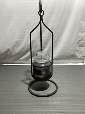 Large Yankee Candle Holder- 18 Inches High Metal Look With Candle