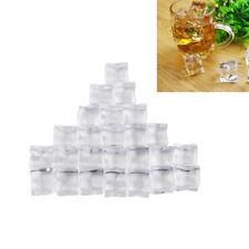 25Pcs Fake Artificial Acrylic Ice Cube Crystal Barware Party Display Food Grade