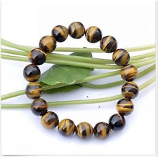 Rare Natural  Hot sell 10mm Tiger's eye beads Bracelet Bangle free gift