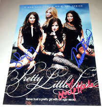 """Pretty Little Liars Cast X4 PP Signed Poster 12""""x8"""" Lucy Hale Shay Mitchell"""