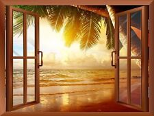 "Wall26 - Sunrise on the Oceanside Removable Wall Sticker / Wall Mural - 24""x32"""