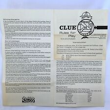 Vintage 1950 Clue Board Game Parker Brothers ORIGINAL INSTRUCTIONS ONLY
