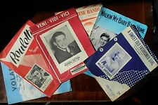Six old music sheets  R Conway,B Anthony,R Hilton,J Ray,T Johnson