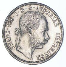 SILVER - WORLD Coin - 1879 Austria-Habsburg 1 Florin - World Silver Coin *549