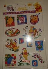 Winnie the Pooh - 13 Christmas Magic Stickers - Double sided - Reusable