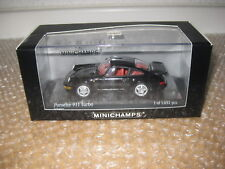 Minichamps 1:43 Porsche 911Turbo 1990 schwarz Nr.430069101  /Q843