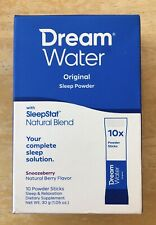 Dream Water Natural Sleep Aid Powder, Snoozeberry, 10 Count