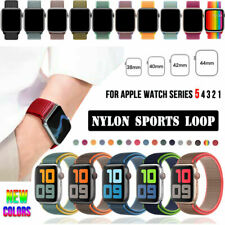 38/40/42/44mm Nylon Sports Loop iWatch Band Strap for Apple Watch Series 5 4 3 2