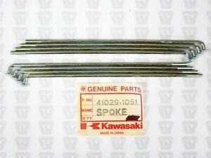 Kawasaki NOS NEW 41029-1051 Rear Inner Spoke (9) KE KE100