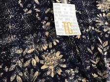 Lularoe TC Tall & Curvy Leggings HTF Unicorn Blue Cream Floral Fern Ornate New *