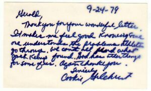 Cookie Gilchrist Buffalo Bills Football Signed Index Card - SUPER RARE