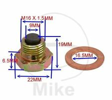 Magnetic Sump Plug, Oil Drain Plug M16  x 1.50- fits various BMW bikes