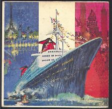 PAQUEBOT FRANCE LINER S.S. France Rarissime Collector Vinyle 33T 17CM format EP