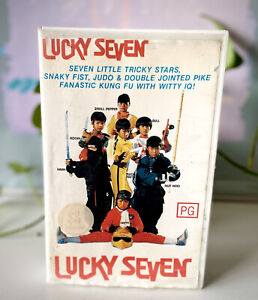 Lucky Seven VHS (1987) PAL VIDEO TESTED Kung Fu Martial Arts VERY RARE OOP