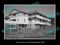 OLD LARGE HISTORIC PHOTO OF LORNE VICTORIA, VIEW OF THE PACIFIC HOTEL c1960