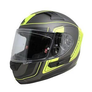 Full Face Helmet > MT KRE SV Ahead DVS Pinlock Ready Motorcycle - Black / Yellow