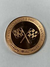 Franklin Mint Precision Models 1997 Die Cast Rally Medallion / Coin Used