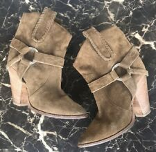 SALE! Isabel Marant Rawson Stacked Heel Ankle Boots Booties Ring 37 EU • 6.5 US
