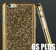 iPhone 6+ / 6S+ PLUS - Luxury Bling Diamond Crystal Hard Metal Chrome Gold Studs