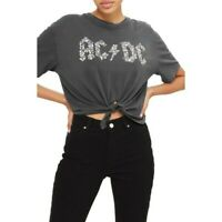 AC/DC acdc knot crop t shirt by and Finally Topshop small festival