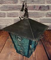 Ancienne Grosse Lanterne Garden décoration à suspendre vintage ferronnerie