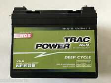 Batteria Saliscale Lavapavimenti 12v 33ah Per Uso Ciclico NDS TP12-33 AGM