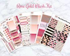 Rose Gold Blush Weekly Planner Sticker Kit for the Erin Condren Vertical Planner