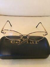 Cazal M 437 Gold Rimless with 3 Gem Stones Women's Eyeglasses 53/15/135