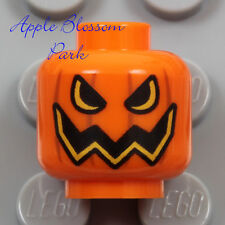 NEW Lego Scarecrow PUMPKIN MINIFIG HEAD Orange Halloween Monster Jack-O-Lantern