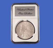 Elite Slab Coin Holder For Morgan Dollar with Etched Metal Label Little Bear