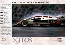 JAGUAR XJR8 WORLD SPORTSCAR SILK CUT RACER RETRO A3 POSTER PRINT FROM 80S ADVERT