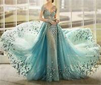 Long Formal Evening Pageant Party Dresses Prom Wedding Bridesmaid Ball Gown