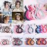 Fashion Women Cute Bow Rabbit Bunny Ear Ribbon Hair Band Wire Headband Wrap