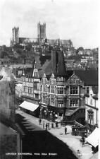 Lincoln Cathedral from High Street unused RP old pc Walter Scott 19918