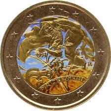 A2973 Italie 2 Euros commemo Droits Homme 2008 Colorful Colorisé FDC UNC!->F.O.