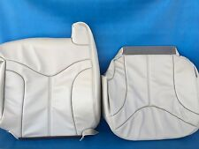 "2000-2002 YUKON/SIERRA LEATHER (BACK/BOTTOM) DRIVER SEAT COVER-SHALE""CREAM""#922"