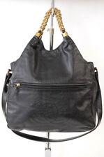 Chanel black leather signature CC logo chain shoulder bag handbag purse $2225