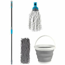 Beldray COMBO-5574 Click & Connect Set with Two Mop Heads & 10 L Folding Bucket