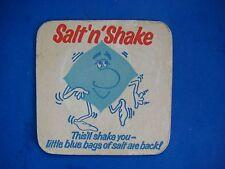 Vintage Beer Brewery Coaster~ Smiths Crisps ~ Salt 'N' Shake ~ This'll Shake You