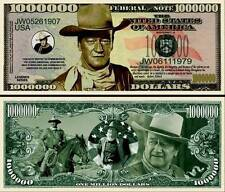 JOHN WAYNE BILLET 1 MILLION DOLLAR US ! Collection cinéma/western Série Far West
