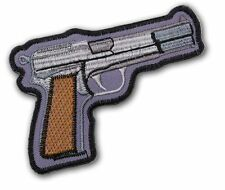 BROWNING HI-POWER - Large Embroidered Iron-On Gun Patch (SAS / British Forces)